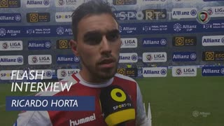 Taça da Liga (Final): Flash Interview Ricardo Horta