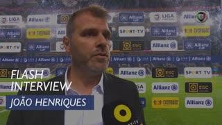 Taça da Liga (Fase de Grupos): Flash Interview João Henriques