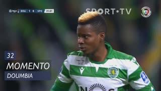 Sporting CP, Jogada, Doumbia aos 32'