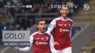 GOLO! SC Braga, Ricardo Horta aos 8', SC Braga 1-0 Sporting CP