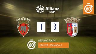 Allianz Cup (Fase 3 - Jornada 2): Resumo Flash FC Penafiel 1-3 SC Braga