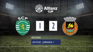 Allianz Cup (Fase 3 - Jornada 1): Resumo Sporting CP 1-2 Rio Ave FC