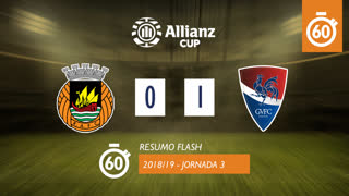 Allianz Cup (Fase 3 - Jornada 3): Resumo Flash Rio Ave FC 0-1 Gil Vicente FC
