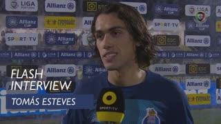 Taça da Liga (Fase de Grupos): Flash Interview Tomás Esteves