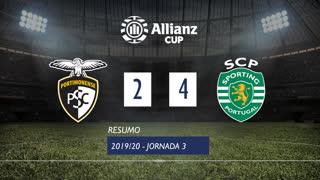 Allianz Cup (Fase 3 - Jornada 3): Resumo Portimonense 2-4 Sporting CP