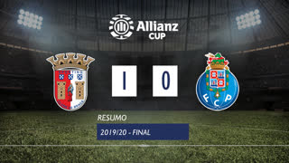 Allianz Cup (Final): Resumo SC Braga 1-0 FC Porto