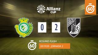 Allianz Cup (Fase 3 - Jornada 2): Resumo Flash Vitória FC 0-2 Vitória SC