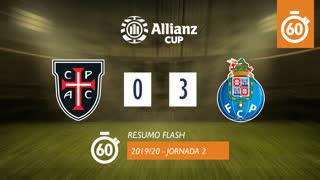 Allianz Cup (Fase 3 - Jornada 2): Resumo Flash Casa Pia AC 0-3 FC Porto