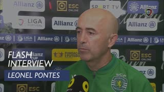 Taça da Liga (Fase de Grupos): Flash Interview Leonel Pontes