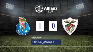 Allianz Cup (Fase 3 - Jornada 1): Resumo FC Porto 1-0 Santa Clara