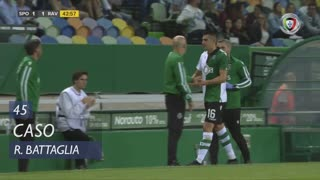 Sporting CP, Caso, Rodrigo Battaglia aos 45'