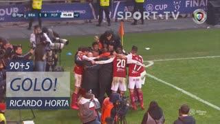 GOLO! SC Braga, Ricardo Horta aos 90'+5', SC Braga 1-0 FC Porto