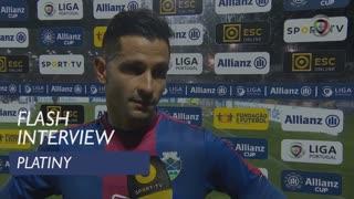 Taça da Liga (Fase de Grupos): Flash Interview Platiny