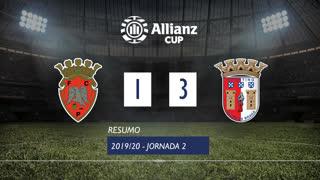 Allianz Cup (Fase 3 - Jornada 2): Resumo FC Penafiel 1-3 SC Braga