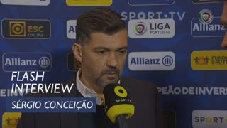 Taça da Liga (Final): Flash Interview Sérgio Conceição