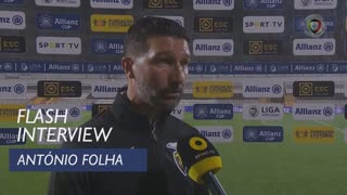 Taça da Liga (Fase de Grupos): Flash Interview António Folha
