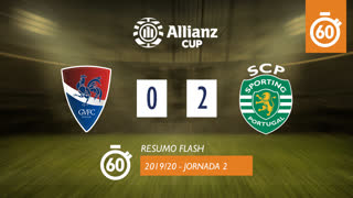 Allianz Cup (Fase 3 - Jornada 2): Resumo Flash Gil Vicente FC 0-2 Sporting CP