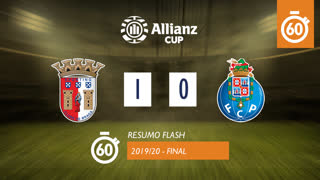 Allianz Cup (Final): Resumo Flash SC Braga 1-0 FC Porto