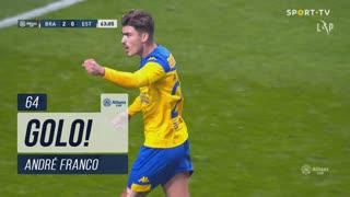 GOLO! Estoril Praia, André Franco aos 64', SC Braga 2-1 Estoril Praia
