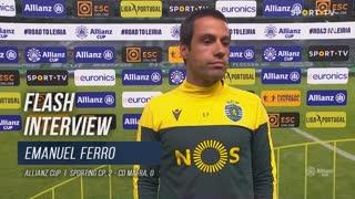 "Emanuel Ferro: ""Vitória competente"""