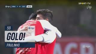 GOLO! SC Braga, Paulinho aos 59', SC Braga 2-0 Estoril Praia