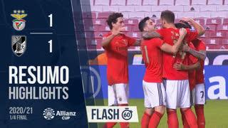 Allianz Cup (Quartos de Final): Resumo Flash SL Benfica 5-2 Vitória SC