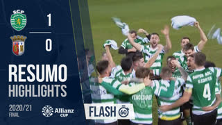 Allianz Cup (Final): Resumo Flash Sporting CP 1-0 SC Braga