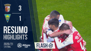 Allianz Cup (Quartos de Final): Resumo Flash SC Braga 3-1 Estoril Praia