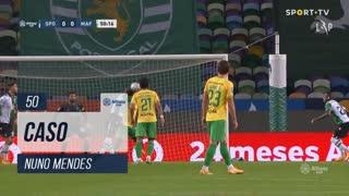 Sporting CP, Caso, Nuno Mendes aos 50'
