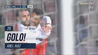 GOLO! SC Braga, Abel Ruiz aos 28', SC Braga 1-0 SL Benfica