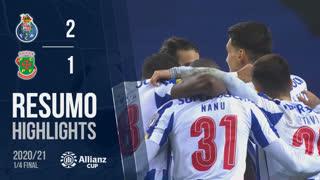 Taça da Liga (Quartos de Final): Resumo FC Porto 2-1 FC P.Ferreira