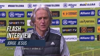 """Jorge Jesus: """"É o apuramento da melhor equipa"""""""