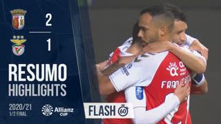Allianz Cup (Meias-Finais): Resumo Flash SC Braga 2-1 SL Benfica