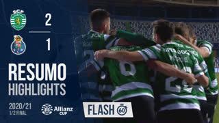Allianz Cup (Meias-Finais): Resumo Flash Sporting CP 2-1 FC Porto