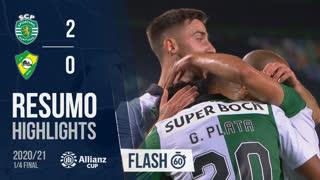 Taça da Liga (Quartos de Final): Resumo Flash Sporting CP 2-0 CD Mafra
