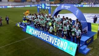 Taça da Liga: Cerimónia final da entrega do troféu ao Sporting CP
