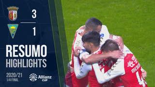Allianz Cup (Quartos de Final): Resumo SC Braga 3-1 Estoril Praia