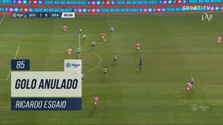 SC Braga, Golo Anulado, Ricardo Esgaio aos 85'