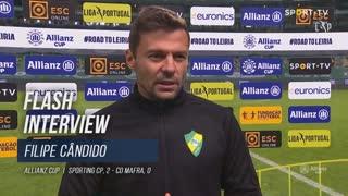 """Filipe Cândido: """"Feliz com a exibição, triste com o resultado"""""""