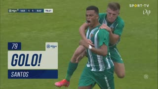 GOLO! Rio Ave FC, Santos aos 79', Varzim SC 1-1 Rio Ave FC