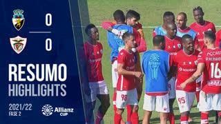 Allianz Cup (2ª Fase): Resumo SC Farense 0-3 Santa Clara