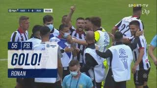 GOLO! Varzim SC, Ronan (p.b.) aos 56', Varzim SC 1-0 Rio Ave FC