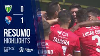 Allianz Cup (1ª Fase): Resumo CD Tondela 0-1 Gil Vicente FC