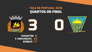 Taça de Portugal (Quartos de Final): Resumo Rio Ave FC 3-0 Estoril Praia