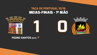 Taça de Portugal (Meias-Finais): Resumo SC Braga 1-0 Rio Ave FC