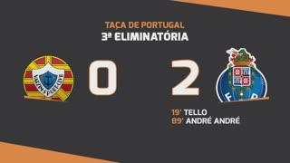 Taça de Portugal (3ª Eliminatória): Resumo Varzim SC 0-2 FC Porto