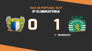 Taça de Portugal (3ª Eliminatória): Resumo FC Famalicão 0-1 Sporting CP