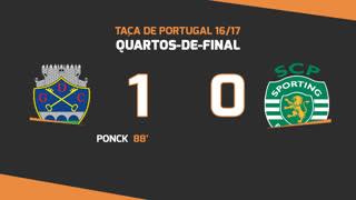 Taça de Portugal (Quartos de Final): Resumo GD Chaves 1-0 Sporting CP