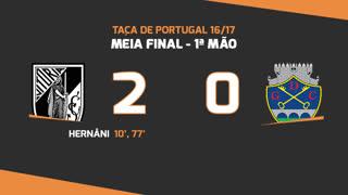 Taça de Portugal (Meias-Finais): Resumo Vitória SC 2-0 GD Chaves