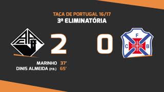 Taça de Portugal (3ª Eliminatória): Resumo A. Académica 2-0 Belenenses SAD